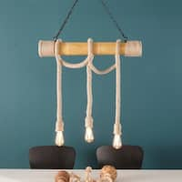 Harper Blvd Gilbert Natural 3-Rope Island Pendant Lamp
