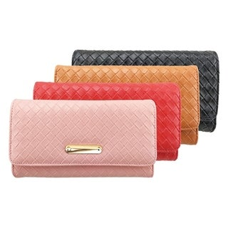 Nicci Clutch with Woven Design Detail