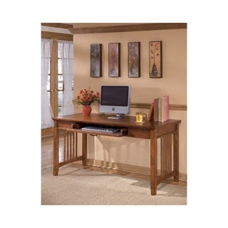 Signature Design by Ashley Cross Island Medium Brown Home Office Large Leg Desk