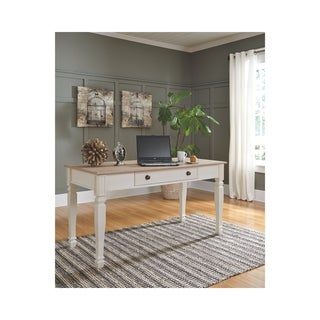Signature Design by Ashley Sarvanny Two-Tone Home Office Large Leg Desk