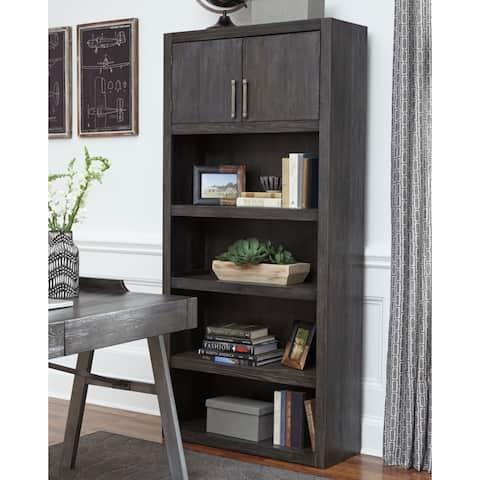 Signature Design by Ashley Raventown Grayish Brown Large Bookcase