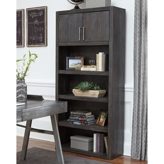Signature Design by Ashley Raventown Grayish Brown Large Bookcase