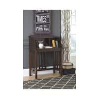 Signature Design by Ashley Harpan Reddish Brown Home Office Drop Front Desk