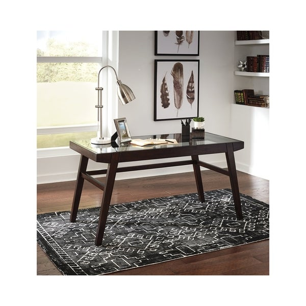 Signature Design By Ashley Chanceen Dark Brown Home Office Desk