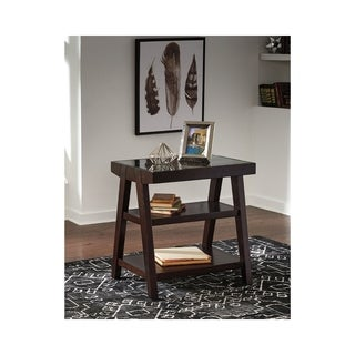 Signature Design by Ashley Chanceen Dark Brown Home Office Corner Table