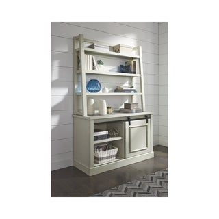 Signature Design by Ashley Jonileene White and Gray Home Office Tall Desk Hutch