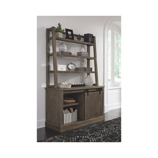 Signature Design by Ashley Luxenford Grayish Brown Home Office Desk Hutch