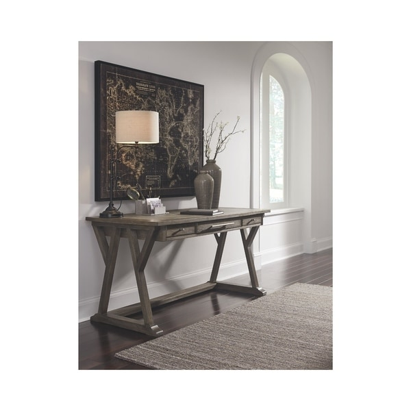 Signature Design By Ashley Grayish Brown Home Office Desk