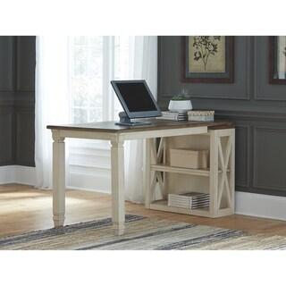 Signature Design by Ashley Bolanburg Two-Tone Bookcase Desk Return