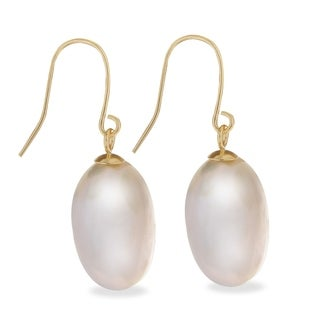 PearLustre by Imperial 10KY 13-14MM FW Coin Pearl Earrings