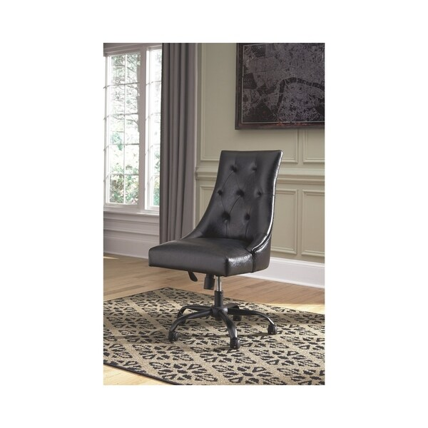 Shop Signature Design By Ashley Office Chair Program Black Home Office Swivel Desk Chair Ships To Canada Overstock 20847419