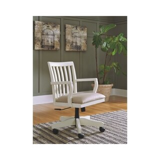 Signature Design by Ashley Sarvanny Cream Home Office Desk Chair