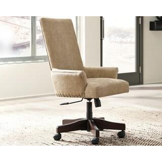 Signature Design by Ashley Baldridge Light Brown Upholstered Swivel Desk Chair