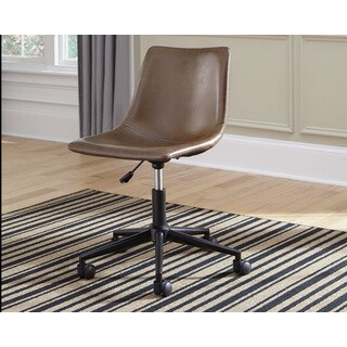 Signature Design by Ashley Office Chair Program Brown Home Office Swivel Desk Chair