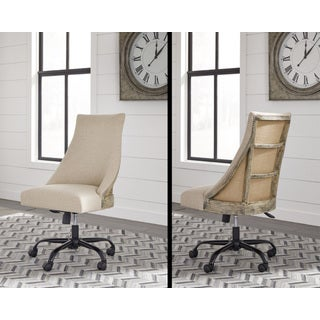 Signature Design by Ashley Office Chair Program Linen Home Office Swivel Chair