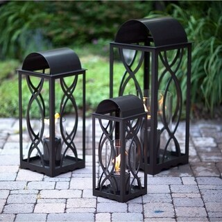 Augusta 26.5in. Gel Fuel Lantern in Bronze by Terra Flame (Medium)