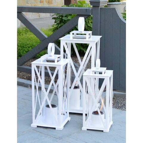 Madison Gel Fuel Lantern - White