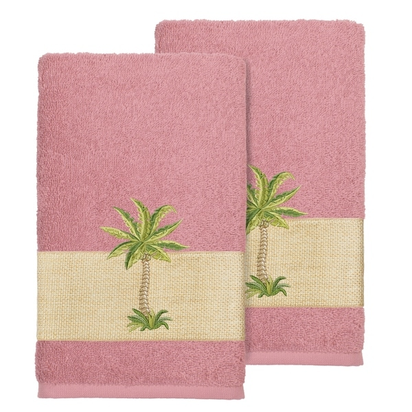 Rose Embroidered Towels: Shop Authentic Hotel And Spa Turkish Cotton Palm Tree