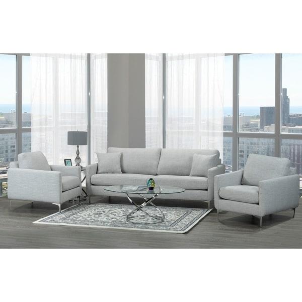 Mid Century Grey Sofa: Shop Rose Mid Century Modern Grey Fabric Sofa And Two
