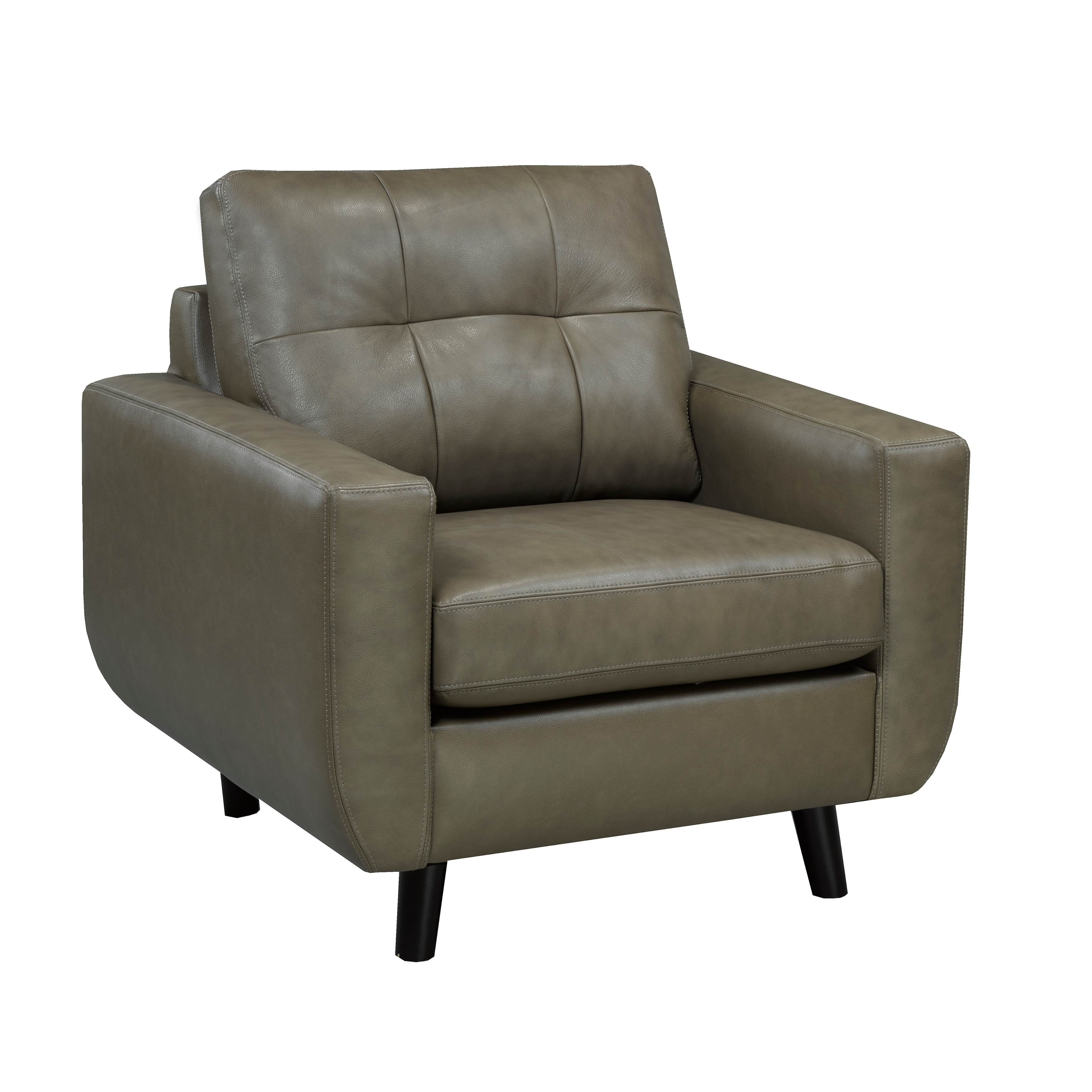 Swell Maisie Mid Century Modern Moss Green Grey Top Grain Italian Leather Tufted Sofa Loveseat And Chair Gamerscity Chair Design For Home Gamerscityorg