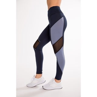 (3 Pack) Fitness Active Legging With Diagonal Mesh & Contrast Side Panel By Hot Kiss