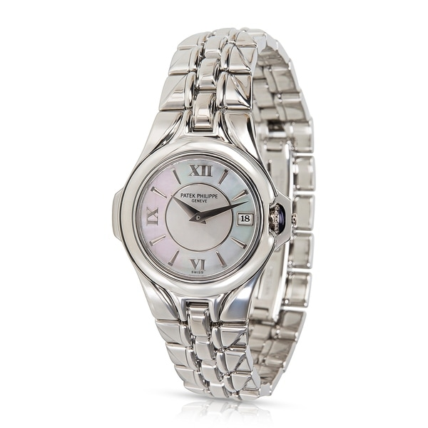 64a69510e Shop Patek Philippe Sculpture 4891/1A-001 Women's Watch in Stainless ...