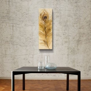 ArtWall Albena Hristova 'Feather Toss-Single' Gallery Wrapped Canvas - Brown
