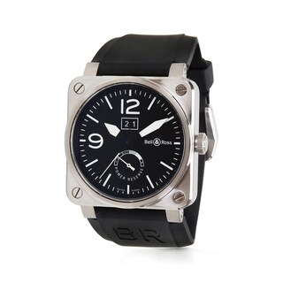 Bell and Ross Aviation BR03-90 Men's Watch in Stainless Steel - N/A - N/A