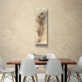 ArtWall Albena Hristova 'Feather Study-Single' Gallery Wrapped Canvas - Brown