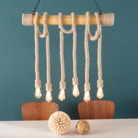 Harper Blvd Gilbert Natural DIY 6-Rope Island Pendant Lamp