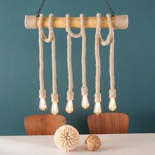 Harper Blvd Gilbert Natural DIY 6-Rope Island Pendant Lamp