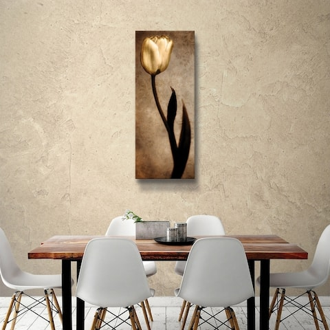 ArtWall Christine zalewski 'Damask Tulip' Gallery Wrapped Canvas - Brown