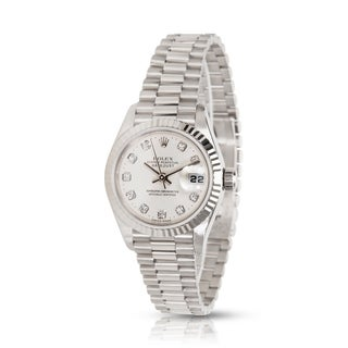 Pre-owned Rolex Datejust 79179 Women's Watch in White Gold