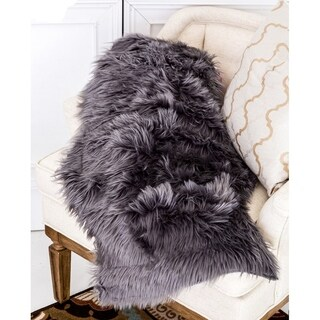 Super Soft Shaped Faux Long Hair Long Pile Sheepskin Area Rug Carpet 2'x3' Feet - 2' x 3'