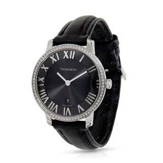 Pre-owned Tiffany & Co. Atlas Atlas 2 Hand Women's Watch in Stainless Steel