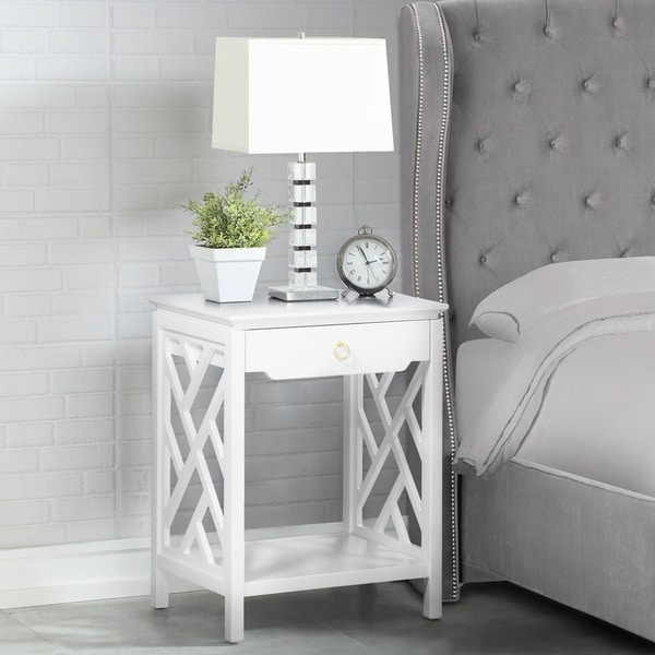Torrey Chippendale-style Nightstand by Greyson Living