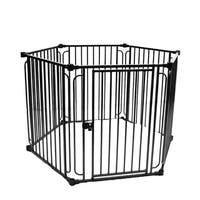 ALEKO 6 Panel 22.5 x 30 inch Heavy Duty Modular Dog Playpen with Door