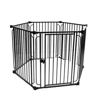 ALEKO 6 Panel 28.5 x 42 inch Heavy Duty Modular Dog Playpen with Door