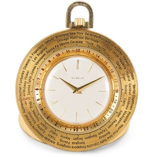 Pre-Owned Gubelin World Timer Pocket Watch in 14K Gold-Filled