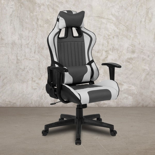 "High Back Reclining Racing/Gaming Office Chair with Lumbar Support - 28""W x 28"" - 41.5""D x 48"" - 51.5""H"