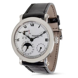 Pre-Owned Patek Philippe Officer Campaign 5054P Men's Watch in Platinum