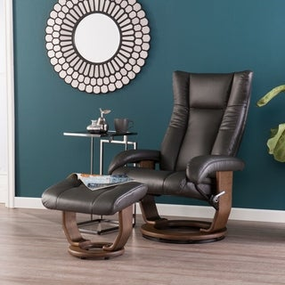 Harper Blvd Micholon Charcoal Reclining Chair and Ottoman