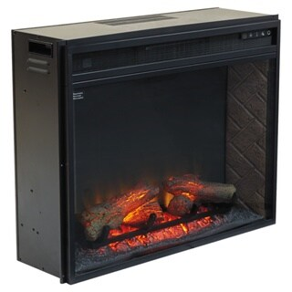 Entertainment Accessories - Media Infrared Fireplace Insert, Black