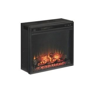Entertainment Accessories - Media Fireplace Insert, Black