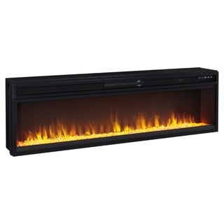 Entertainment Accessories - Wide Fireplace Insert, Black