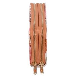 Nicci Floral Double Zipper Around Organizer Wallet