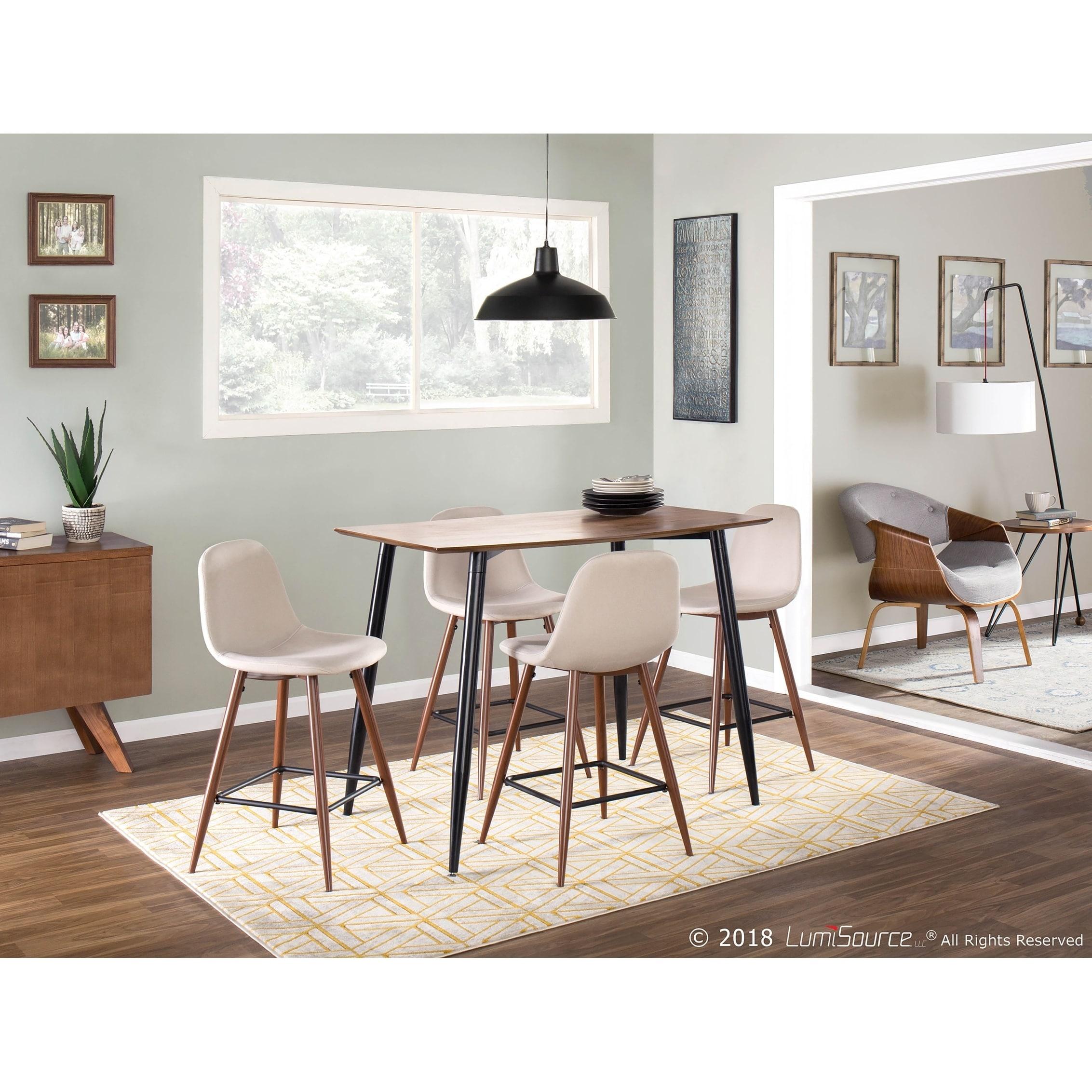 Pleasant Clara Mid Century Modern Rectangular Counter Table Ncnpc Chair Design For Home Ncnpcorg