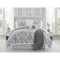 Ellen Tracy  Adalisa 6-piece Comforter Bedding Set - platinum/white