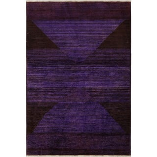 Over Dyed Color Reform Emeline Purple/Red Wool Rug (3'11 x 5'11) - 3 ft. 11 in. x 5 ft. 11 in.