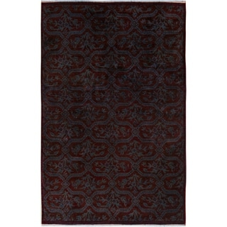Over Dyed Color Reform Cesar Brown/Blue Wool Rug (4'6 x 6'10) - 4 ft. 6 in. x 6 ft. 10 in.